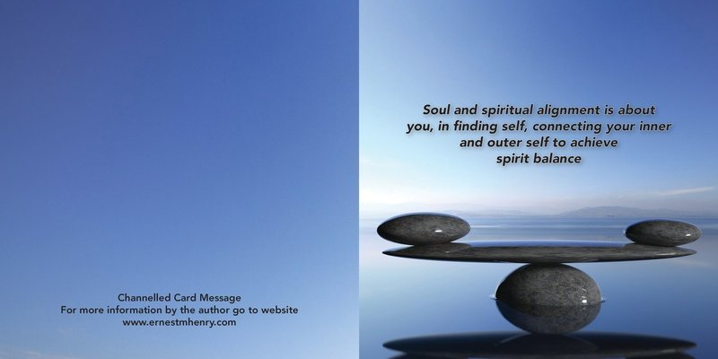 Inspirational channelled message card - Soul Alignment
