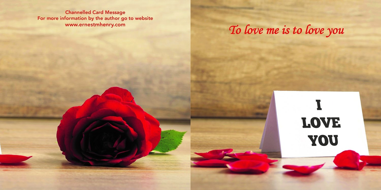 Inspirational channelled message card - Self Love Twin Flame