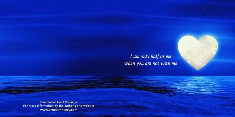 Inspirational channelled message card - Twin Flame know that I am always with you