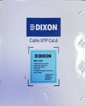CABLE UTP CAT 6 LSZH DIXON 9040