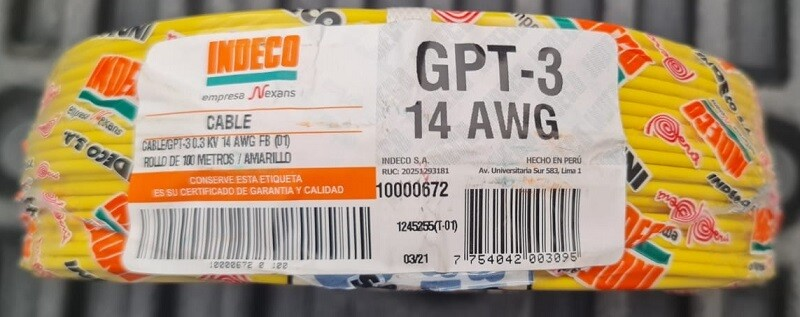 Cable GPT 14AWG AMARILLO