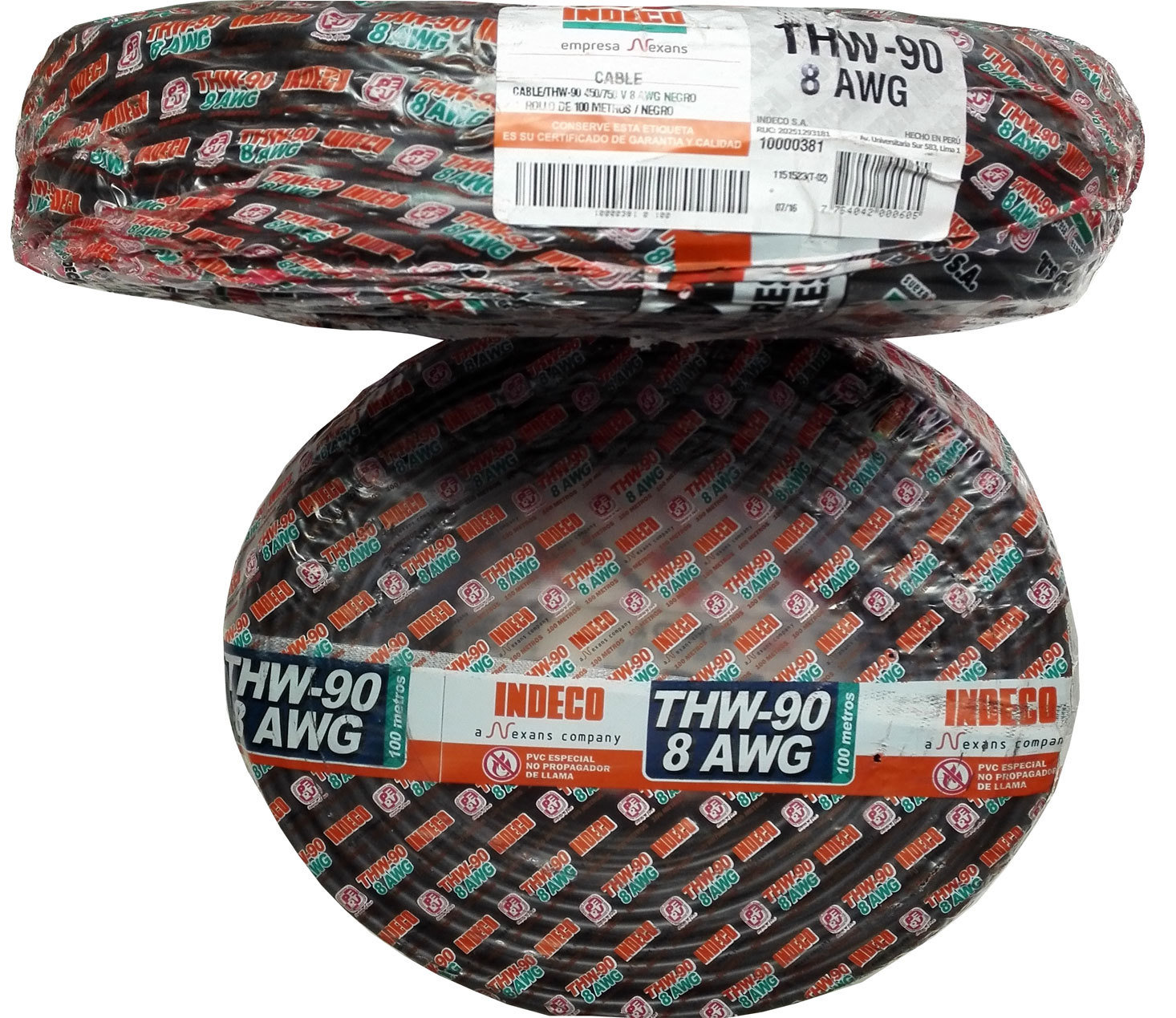 Cable THW90 8AWG