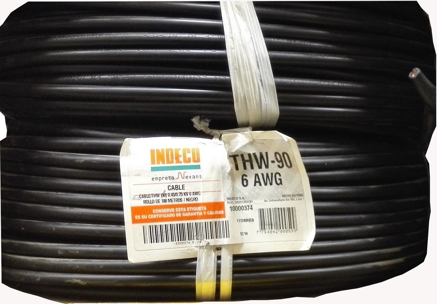 Cable THW90 6AWG