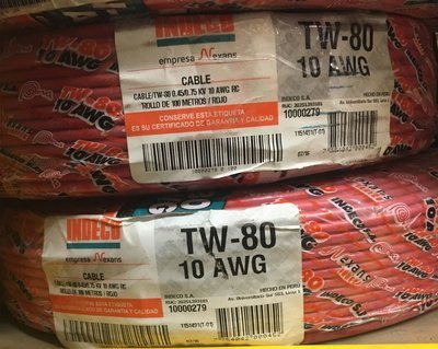 Cable TW80 10AWG