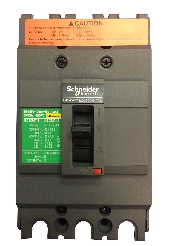 Interruptor Trifasico Fijo 100A EZC EasyPact