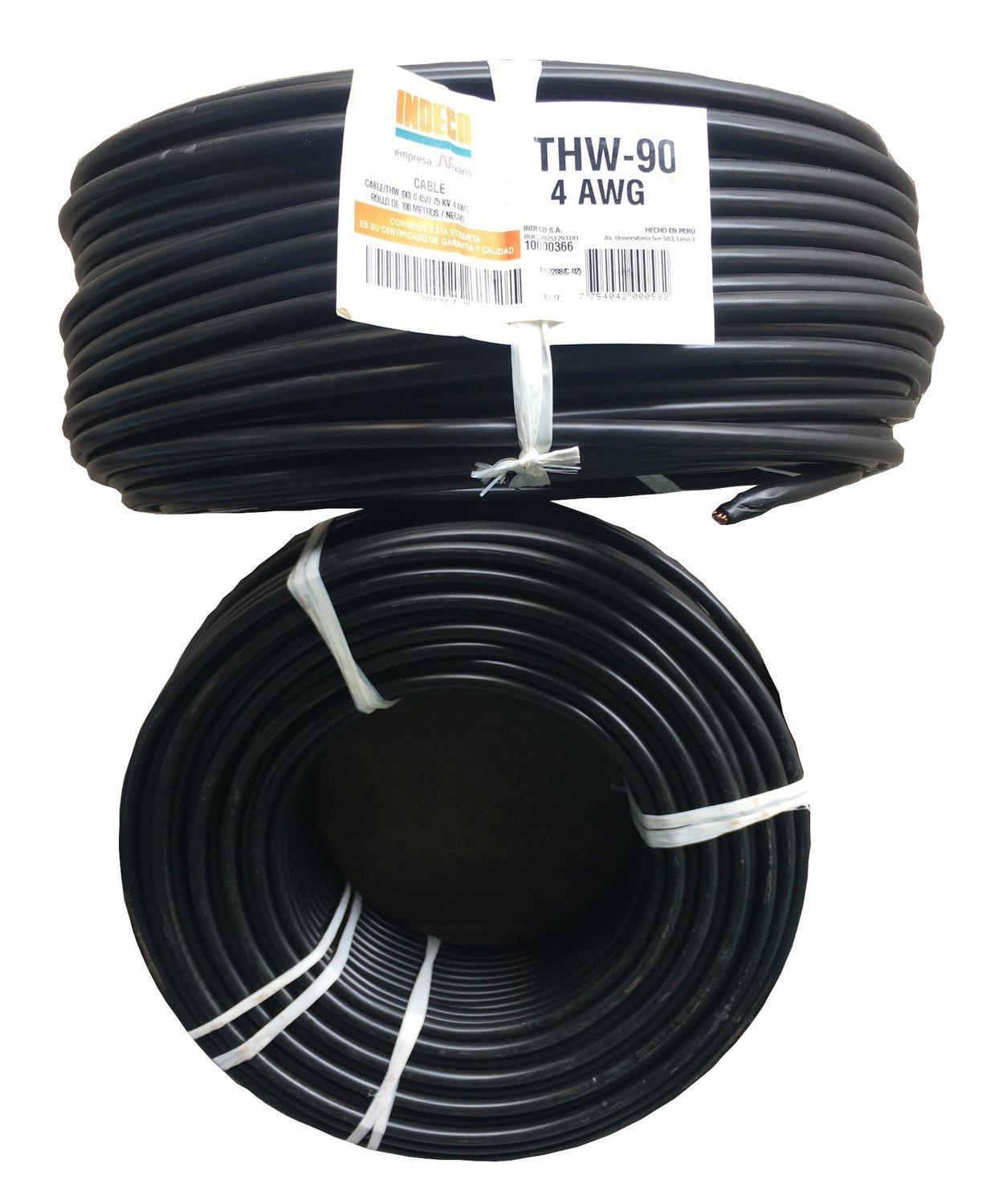 Cable THW90 4AWG