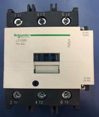 Contactor Tripolar Tesys LC1D80R7