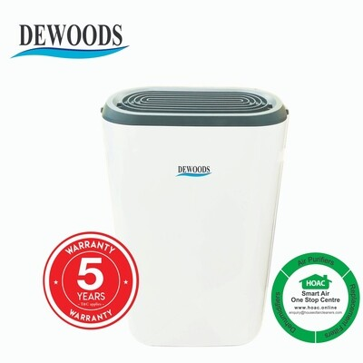 DEWOODS Dehumidifier MDH-12A (12 Litres) With 5 YEARS WARRANTY