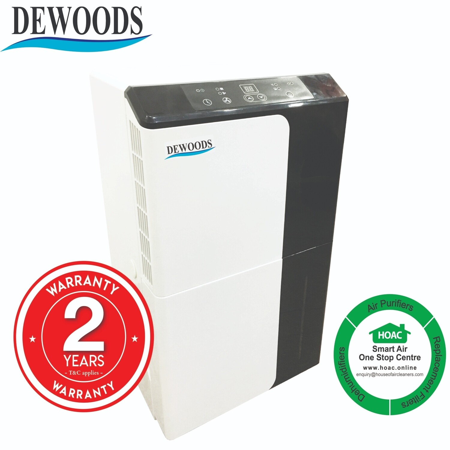 DEWOODS Dehumidifier MDH-30A (30 Litres) With 2 YEARS WARRANTY