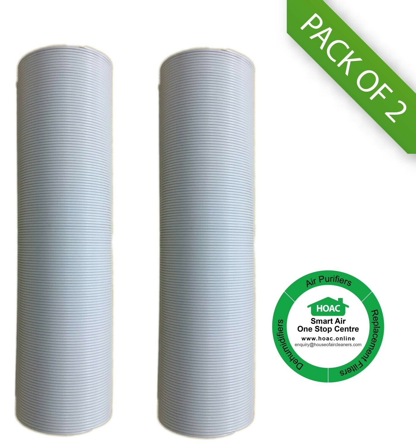 "[PACK OF 2] 5"" / 125 mm PVC Flexible Aircond Exhaust Duct (Ready Stock in Kuala Lumpur)"