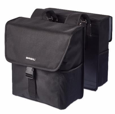 Basil Go Double Bag Zwart