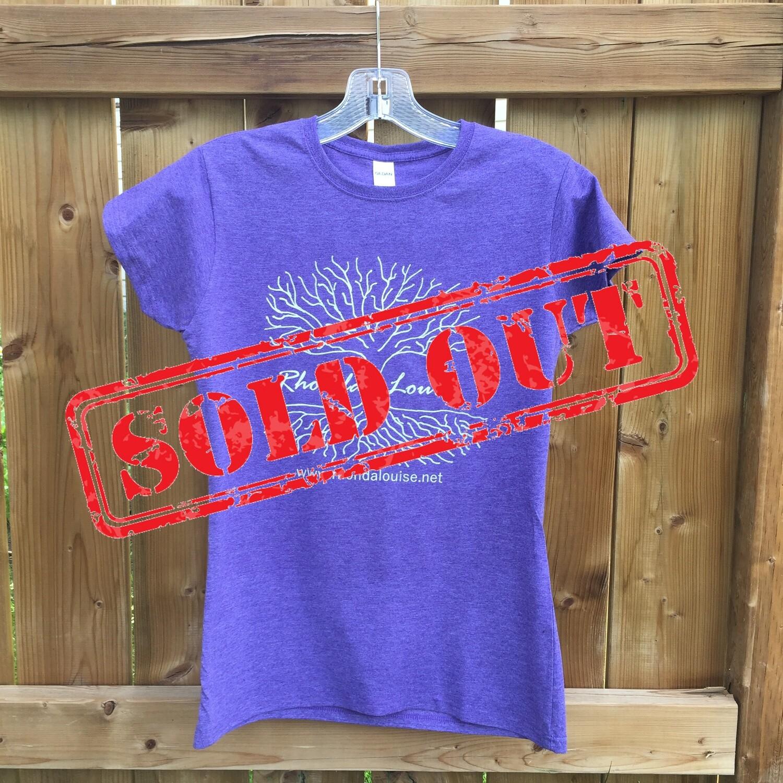 Rhonda Louise Logo T-Shirt - Women's - Purple/White