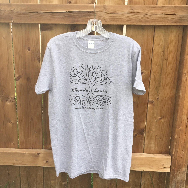 Rhonda Louise Logo T-Shirt - Men's - Grey/Black