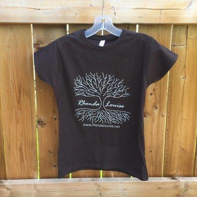 Rhonda Louise Logo T-Shirt - Women's - Brown/White