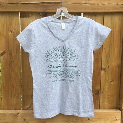Rhonda Louise Logo T-Shirt - Women's - Grey/Green