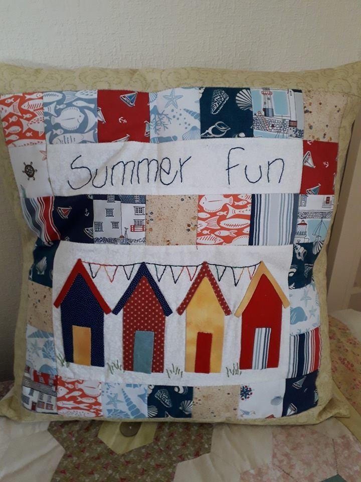 Summer Fun Cushion with Button closure