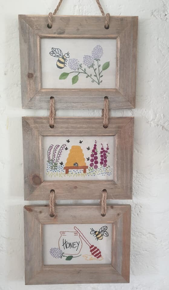 Honey to the bee embroidery pattern