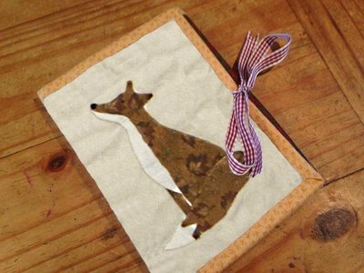 Star Gazing Fox - Tri fold hand stitching Binding Kit PDF pattern