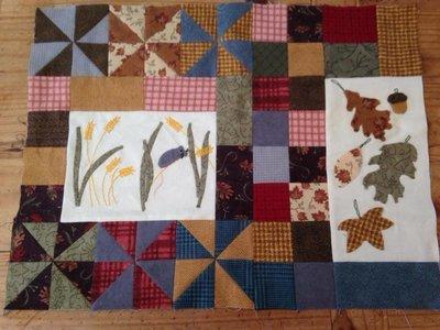 6mth BOM Quilt  Autumn Beckons - Month 5 Wheat Fields PDF pattern