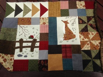 6 mth BOM Quilt Autumn Beckons - Month 6 Fox in the Field PDF pattern
