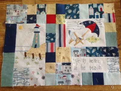 6mth BOM quilt - Down by the seaside - Month 1 Just relaxing PDF pattern