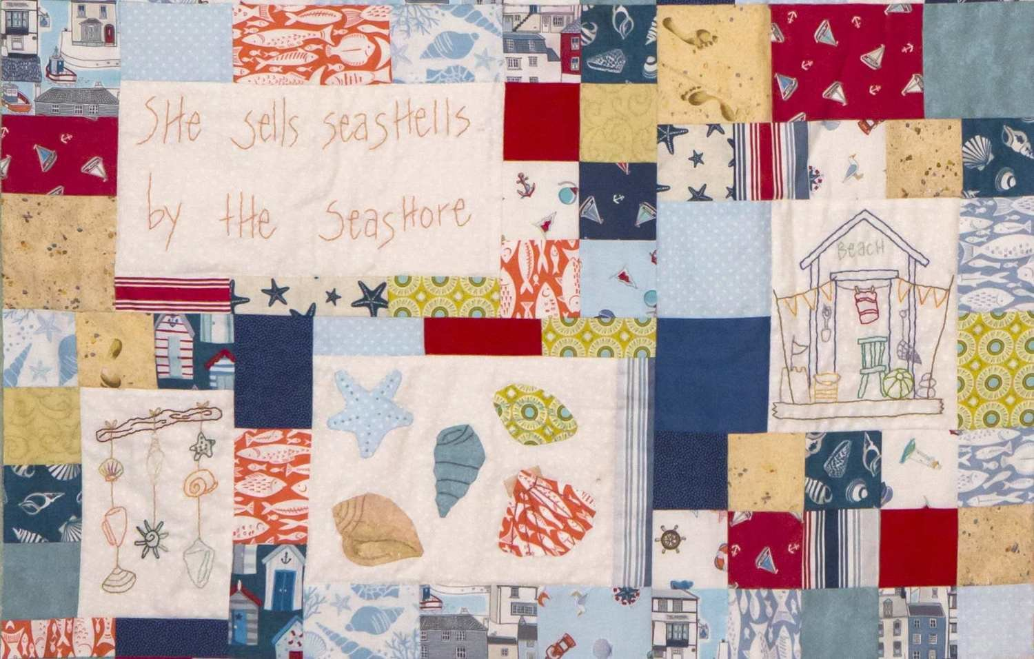 6mth BOM quilt - Down by the seaside - Month 3 Collecting Seashells PDF pattern