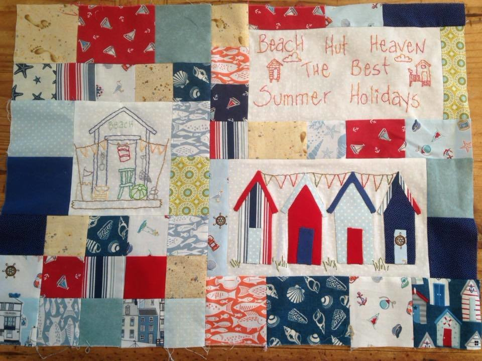 6mth BOM quilt - Down by the seaside - Month 4 Beach Huts PDF pattern