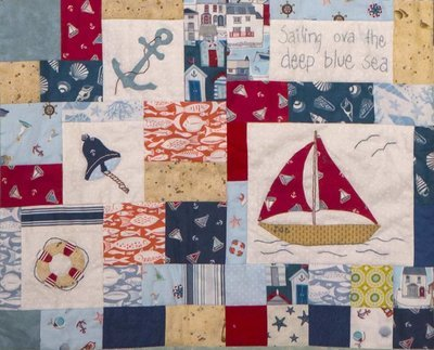 6mth BOM quilt - Down by the seaside - Month 5 Sailing away PDF pattern