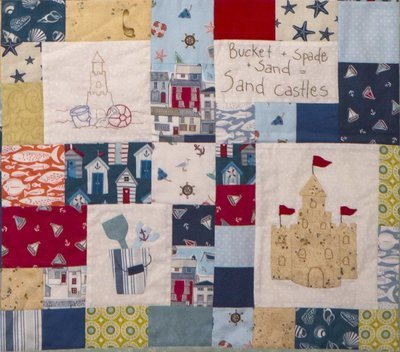 6mth BOM quilt - Down by the seaside - Month 6 Sandcastles PDF pattern