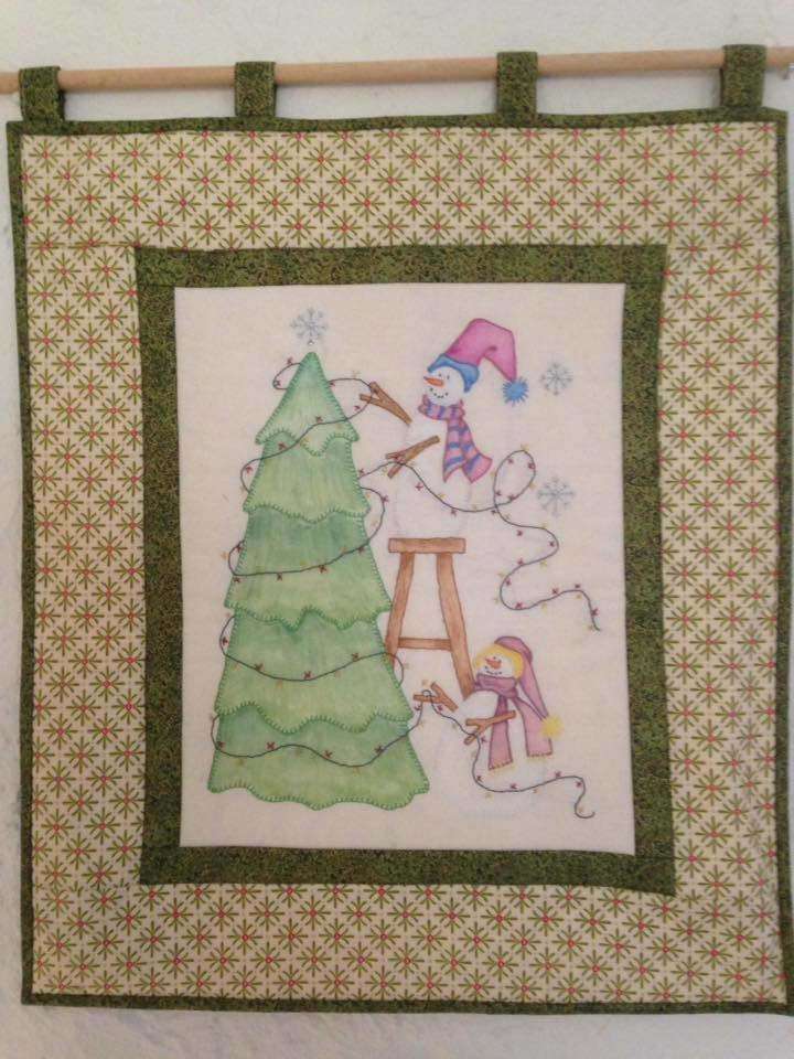 Deck the Tree Wall hanging