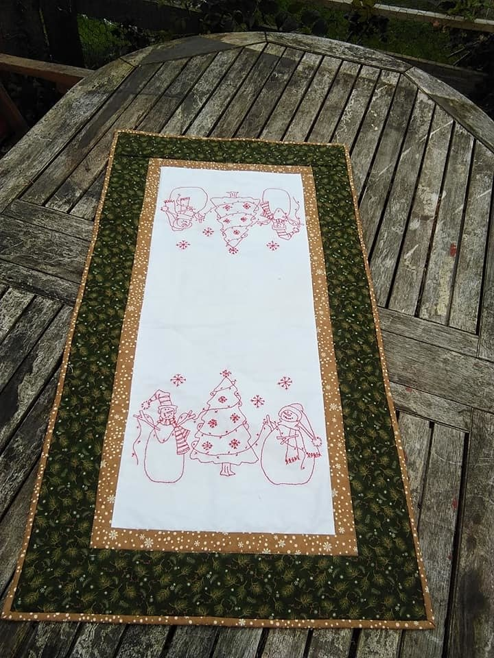 Decorating the Tree table runner