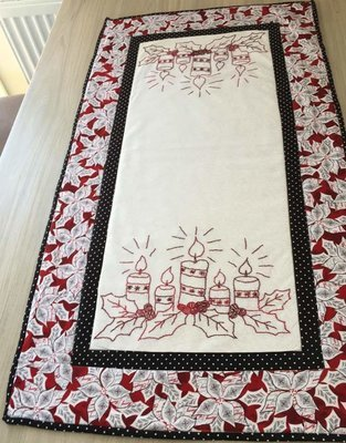 Christmas Candles table runner