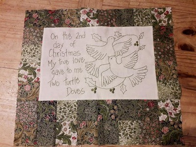 Two Turtle Doves - 12 Days of Christmas Quilt