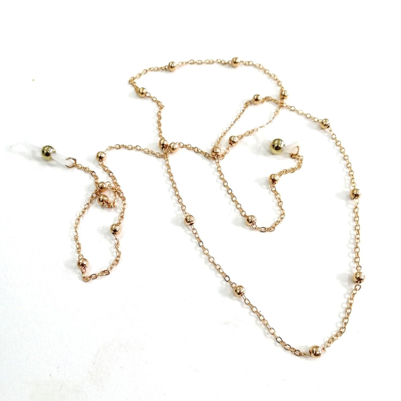 Cat perline metal oro