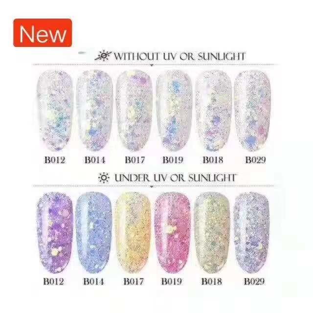 Color Change Glitter 6pcs