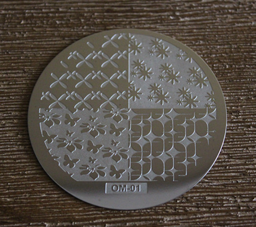 10pcs Stamping Plate OM ( Different ones Random )