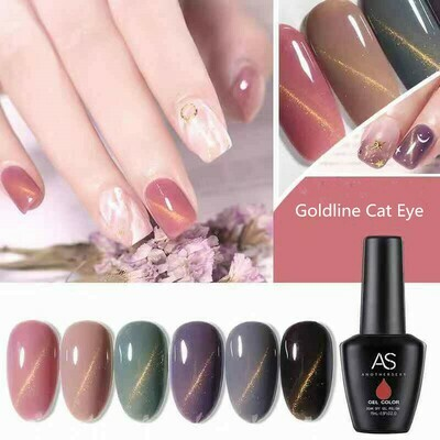 AS Gel Polish Goldline Cat Eye