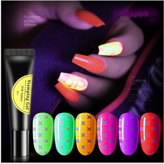 Glow in the dark Stamping Gel 8ml