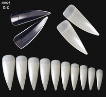 Half Cover Eagle Claw Nail Tips 100pcs