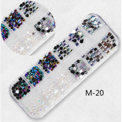 12 Grids Nail Decoration M-20