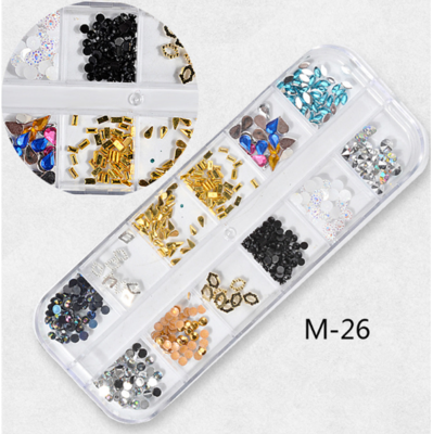 12 Grids Nail Decoration M-26