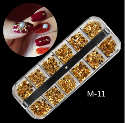 12 Grids Nail Decoration M-11
