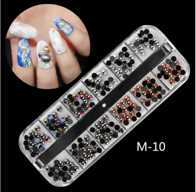 12 Grids Nail Decoration M-10