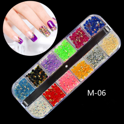 12 Grids Nail Decoration M-06