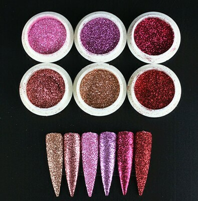 6pcs Fine Glitter