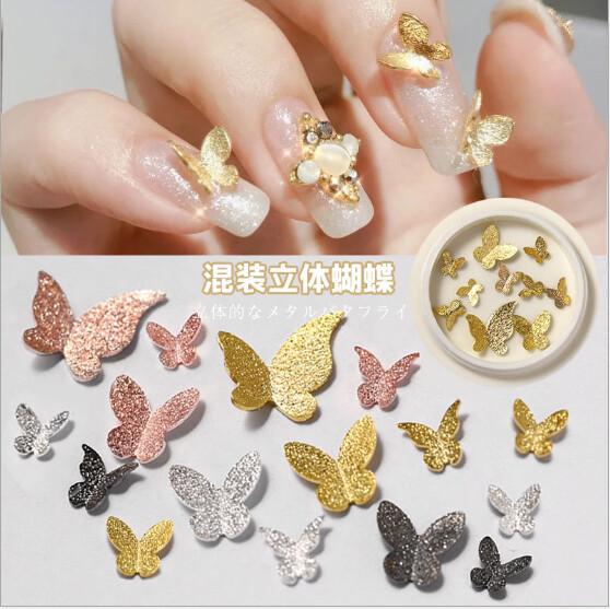 3D Rasin Matt Metal Butterfly 10pcs Mix Size