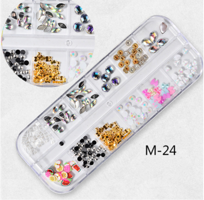 12 Grids Nail Decoration M-24