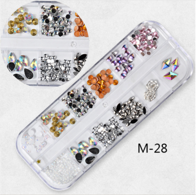 12 Grids Nail Decoration M-28