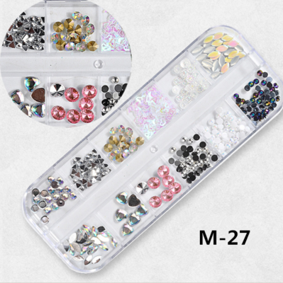12 Grids Nail Decoration M-27