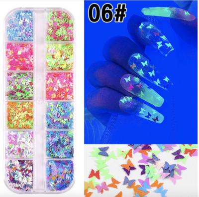 12pcs Butterfly Decoration - 06 ( Luminus )